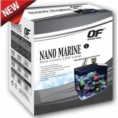 Аквариум OF NANO MARINE-2, 24л, прямоугольный + фильтр + флотатор + функц. LED светильник (день/ночь), черный