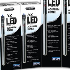 Обогреватель AZ LED DISPLAY с терморегулятором и цифровым датчиком температуры,  защитный чехол 100W (акв.80-160л)